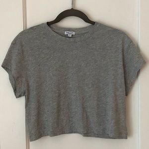 Cropped Heathered Tee from Splendid
